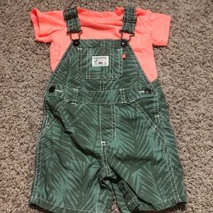 12 month adorable overall set